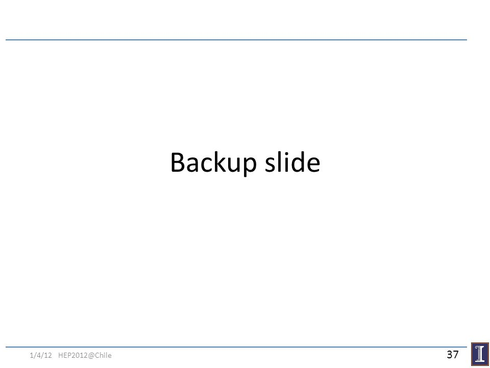 Backup slide 1/4/12 HEP2012@Chile