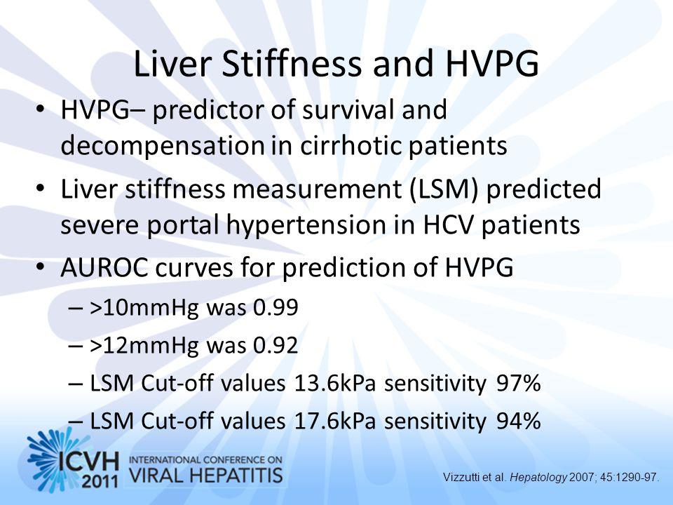 Liver Stiffness and HVPG