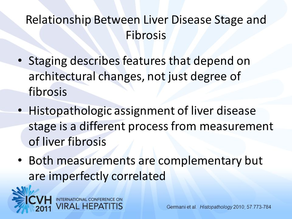 Relationship Between Liver Disease Stage and Fibrosis