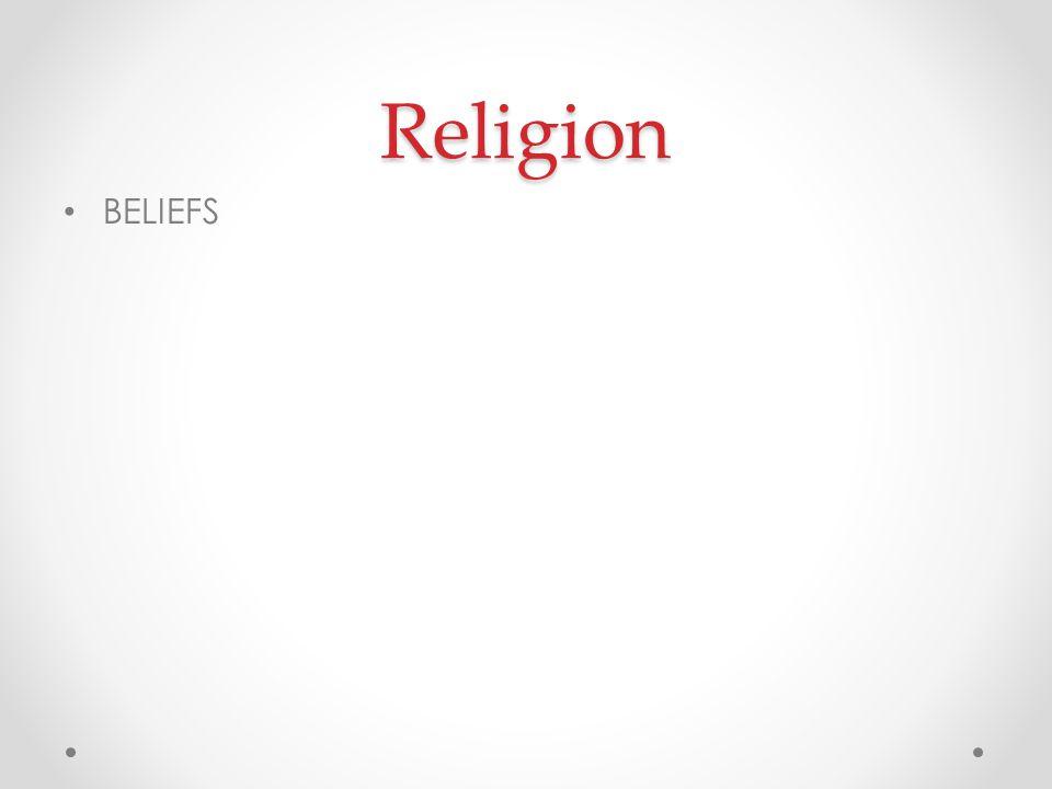 Religion BELIEFS