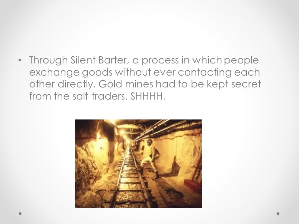 Through Silent Barter, a process in which people exchange goods without ever contacting each other directly.