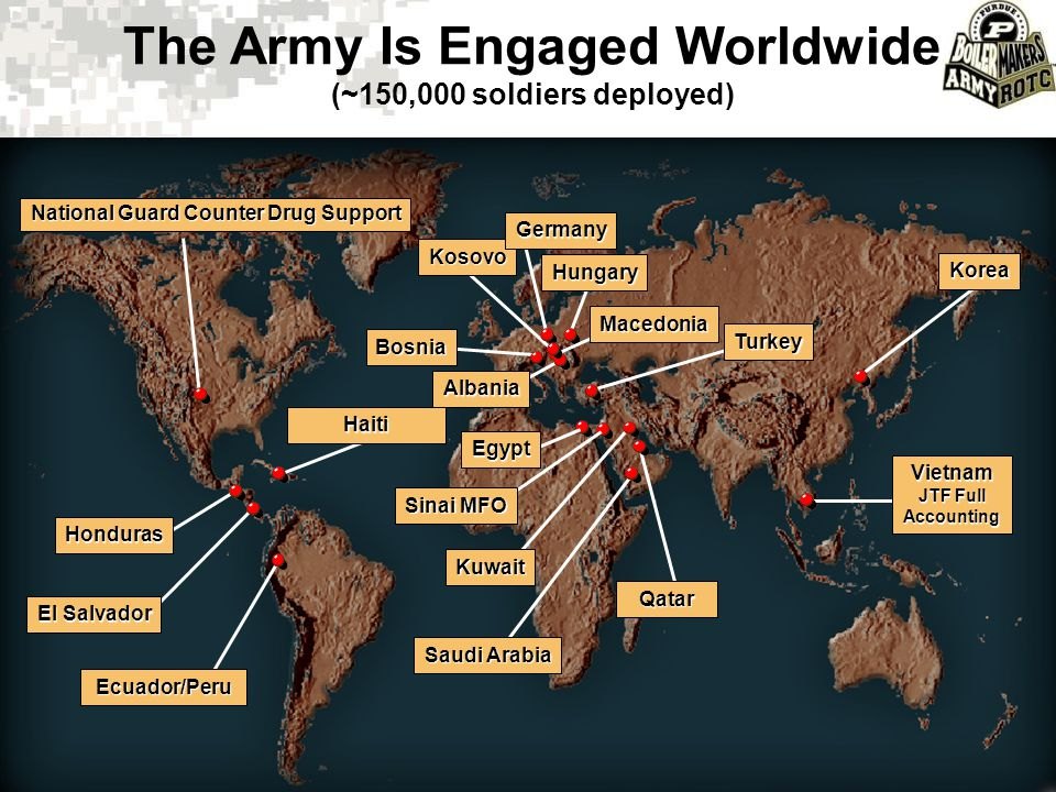 The Army Is Engaged Worldwide