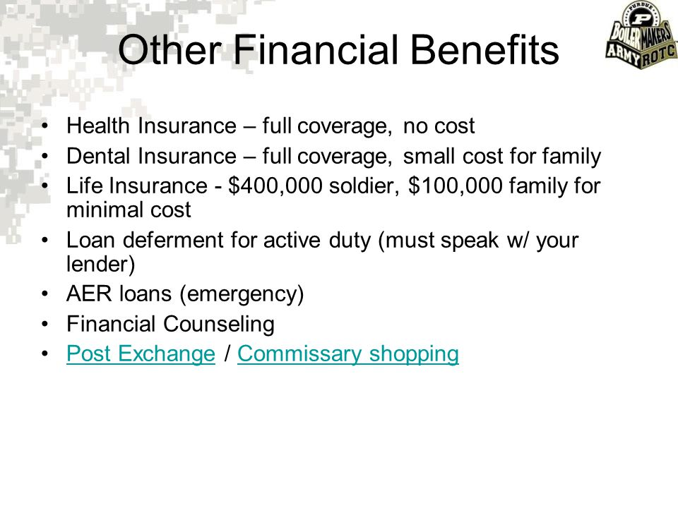 Other Financial Benefits