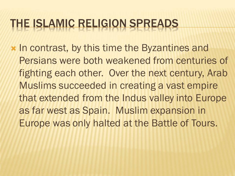 The Islamic Religion Spreads