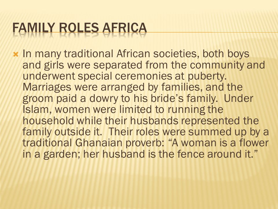 Family Roles Africa