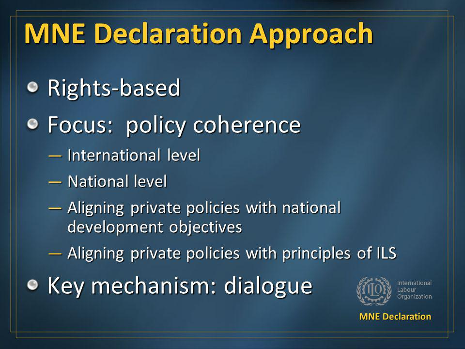 MNE Declaration Approach
