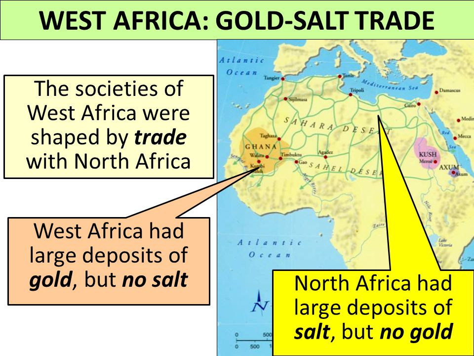 WEST AFRICA: GOLD-SALT TRADE