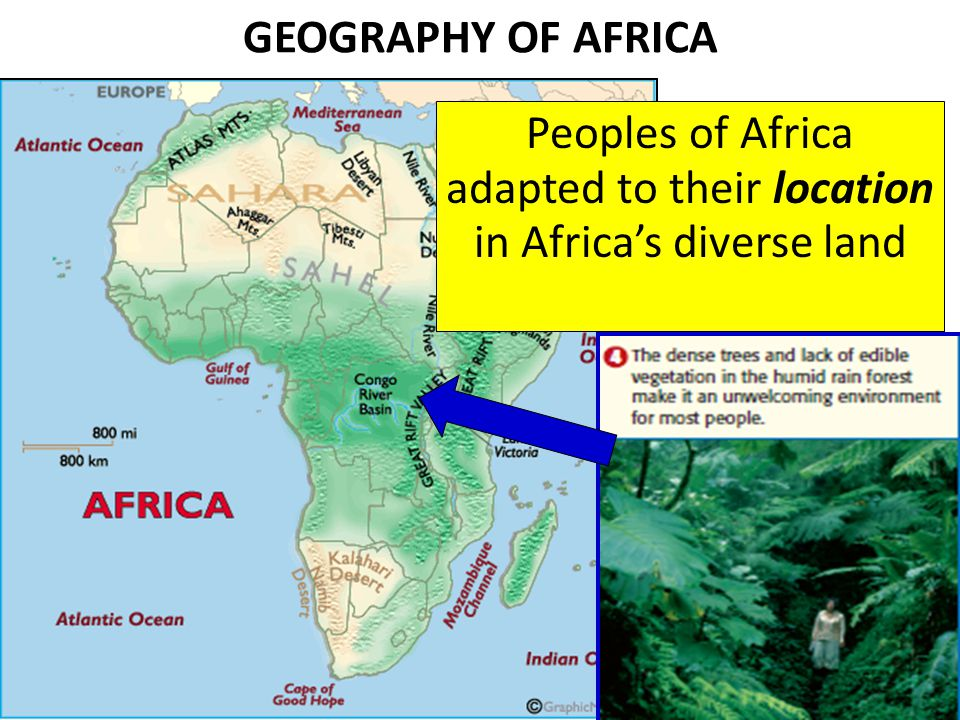 Peoples of Africa adapted to their location in Africa's diverse land