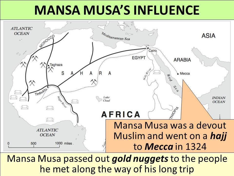 MANSA MUSA'S INFLUENCE