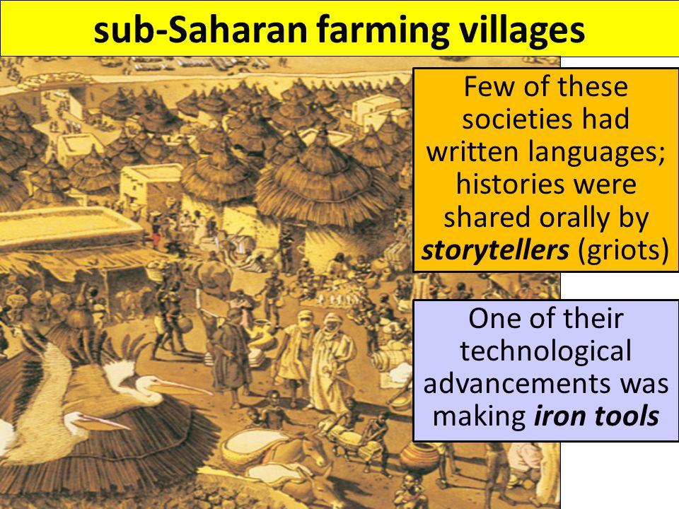 sub-Saharan farming villages