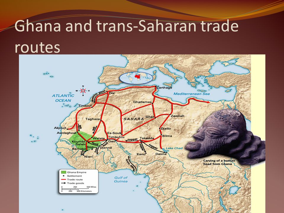 Ghana and trans-Saharan trade routes