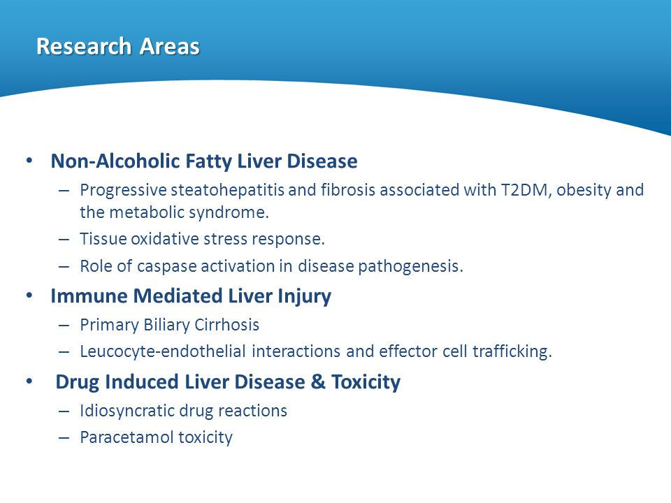Research Areas Non-Alcoholic Fatty Liver Disease