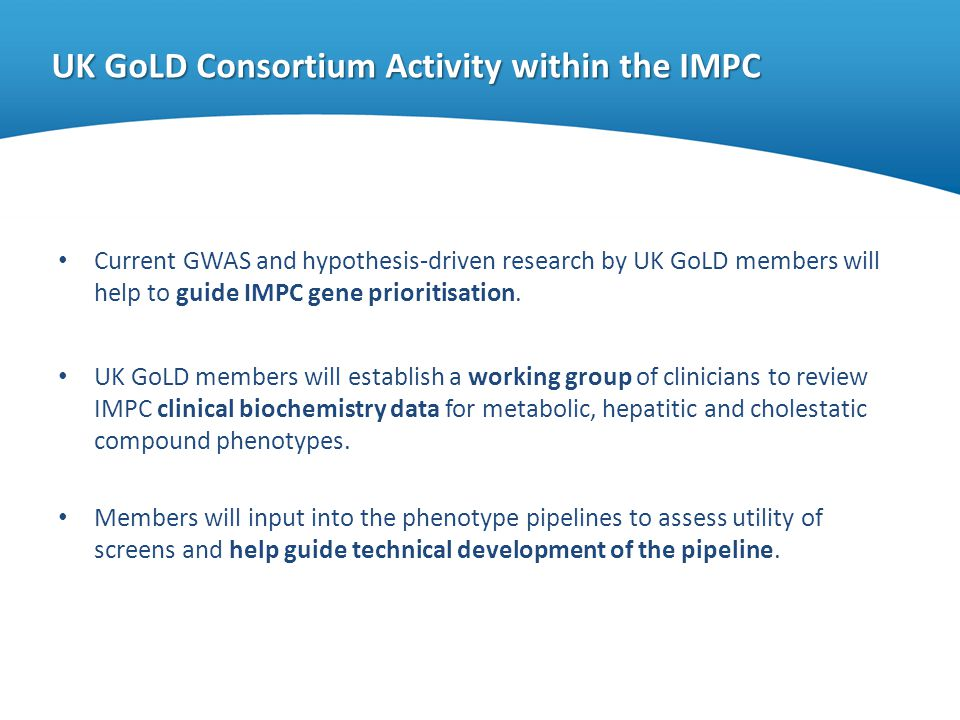 UK GoLD Consortium Activity within the IMPC