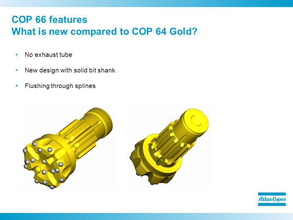 COP 66 features What is new compared to COP 64 Gold