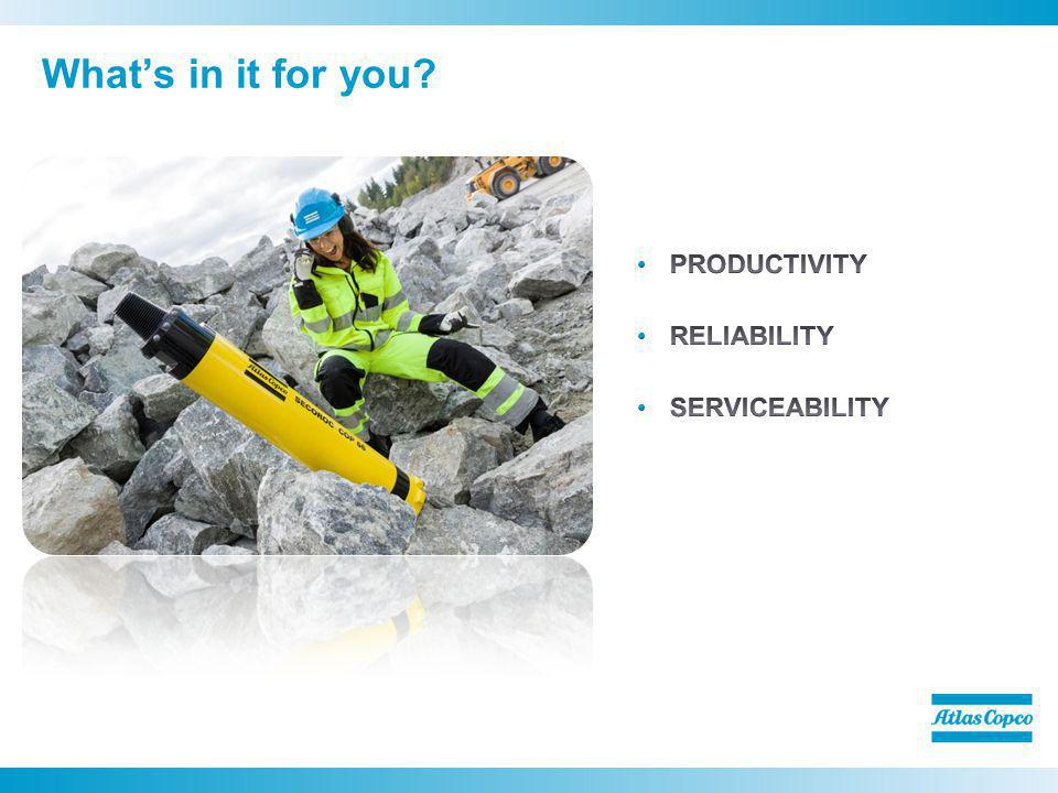 What's in it for you PRODUCTIVITY RELIABILITY SERVICEABILITY
