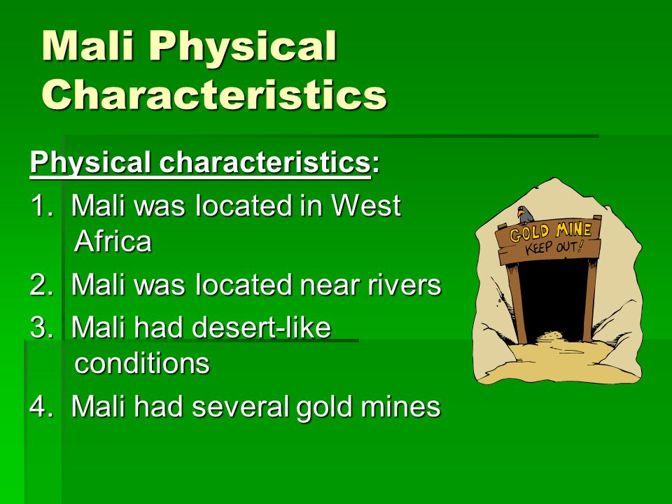 Mali Physical Characteristics