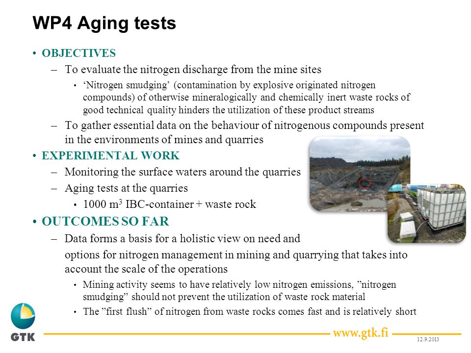 WP4 Aging tests OUTCOMES SO FAR OBJECTIVES