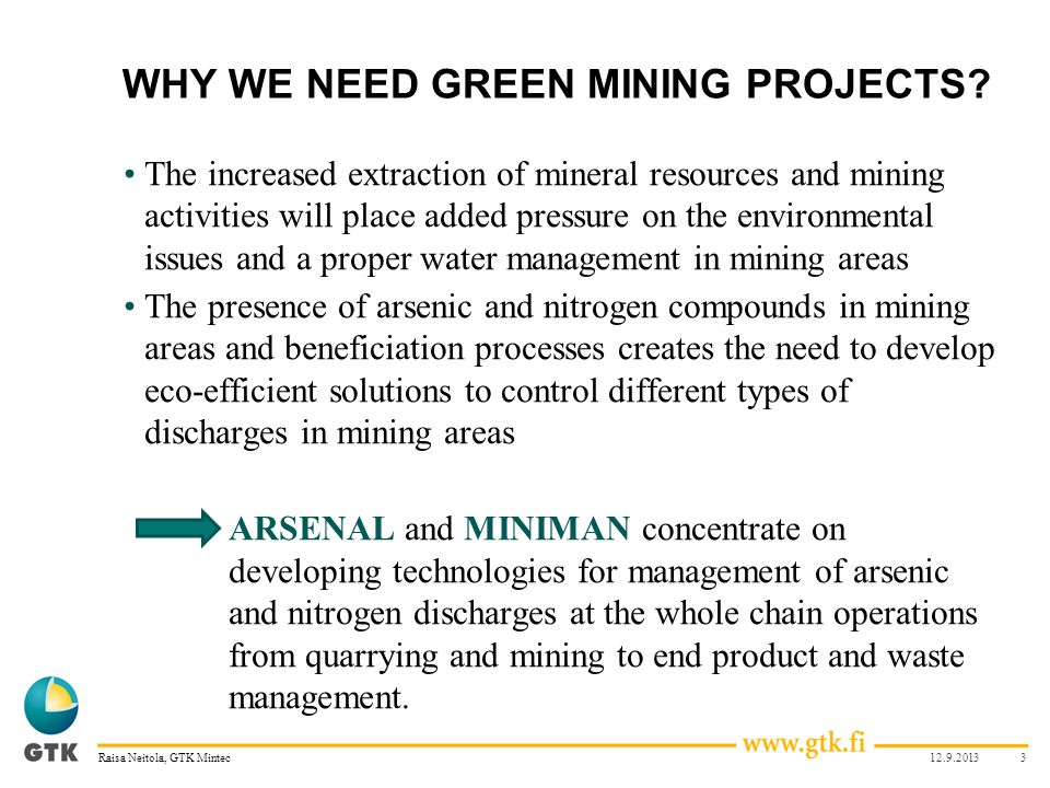 WHY WE NEED GREEN MINING PROJECTS