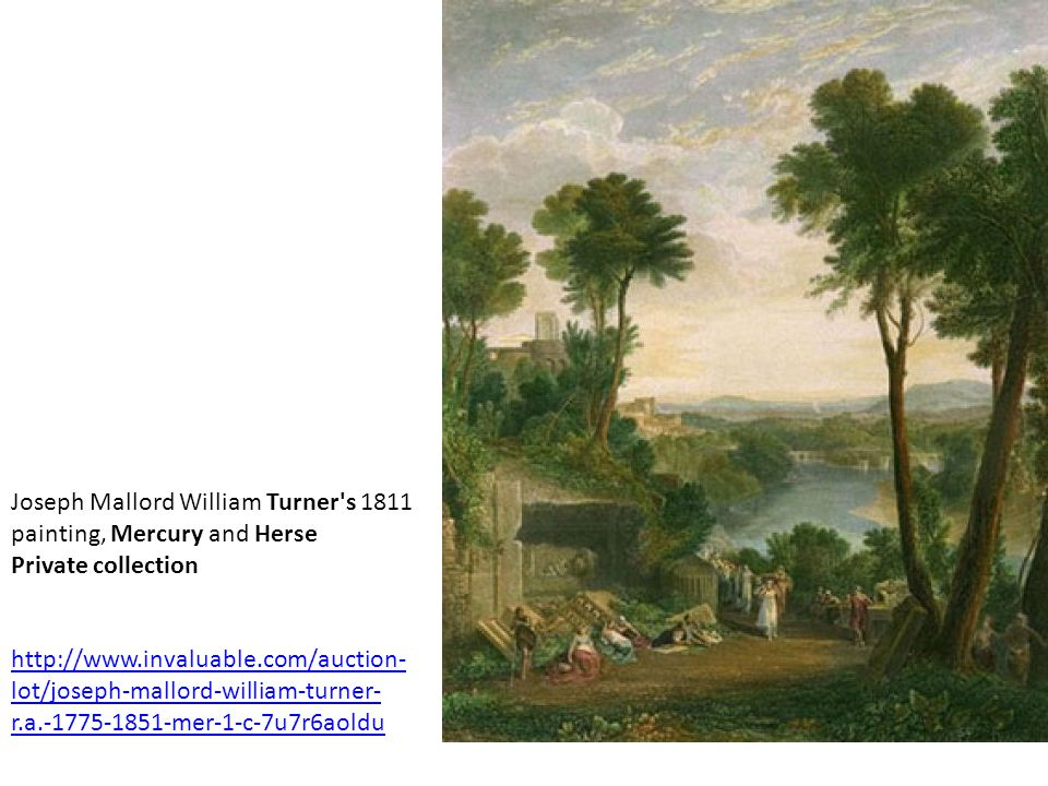 Joseph Mallord William Turner s 1811 painting, Mercury and Herse