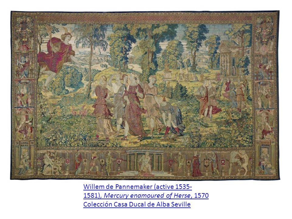 Willem de Pannemaker (active 1535-1581), Mercury enamoured of Herse, 1570 Colección Casa Ducal de Alba Seville