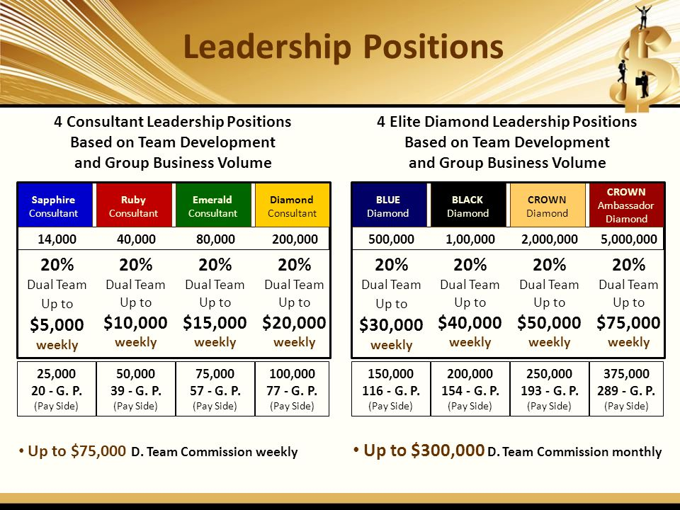 Leadership Positions 20% 20% 20% 20% 20% 20% 20% 20%