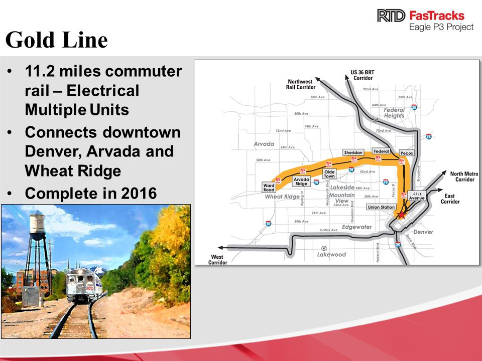 Gold Line 11.2 miles commuter rail – Electrical Multiple Units