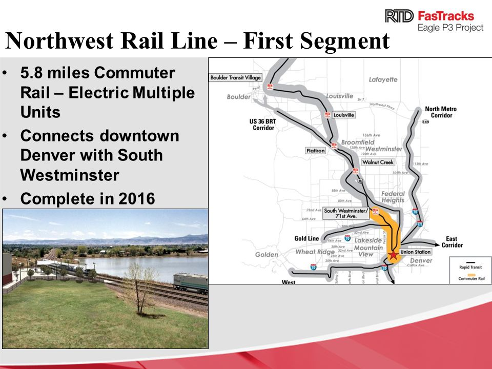 Northwest Rail Line – First Segment