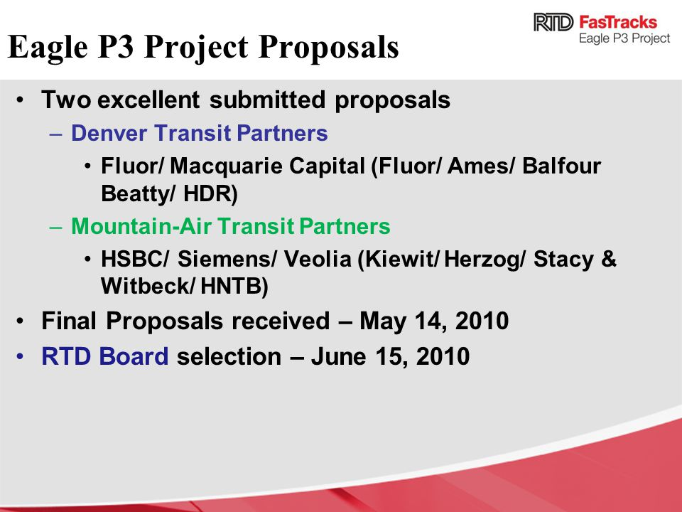 Eagle P3 Project Proposals