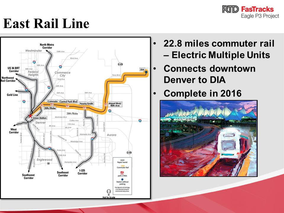 East Rail Line 22.8 miles commuter rail – Electric Multiple Units