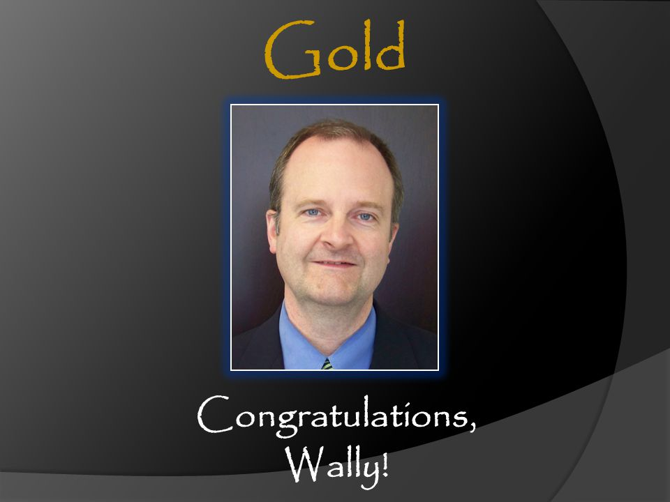Congratulations, Wally!