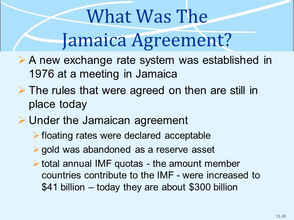 What Was The Jamaica Agreement