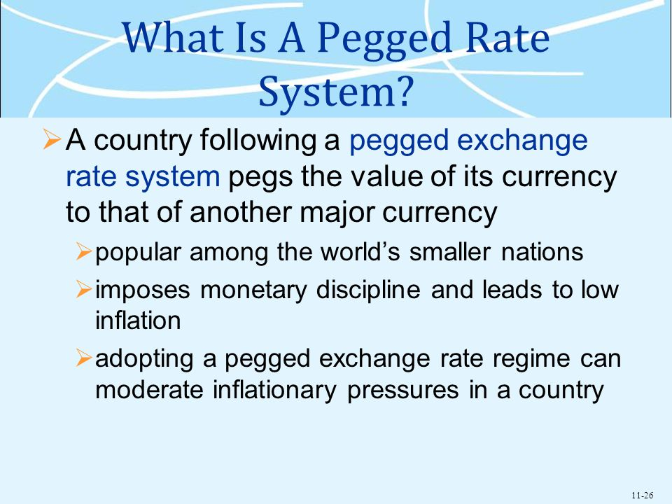 What Is A Pegged Rate System