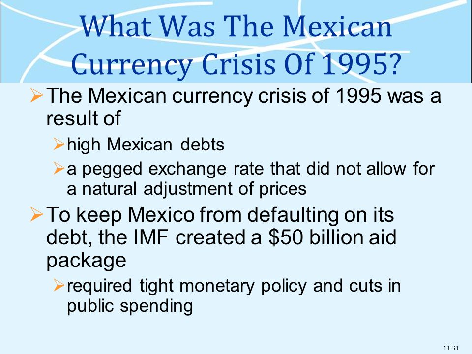 What Was The Mexican Currency Crisis Of 1995