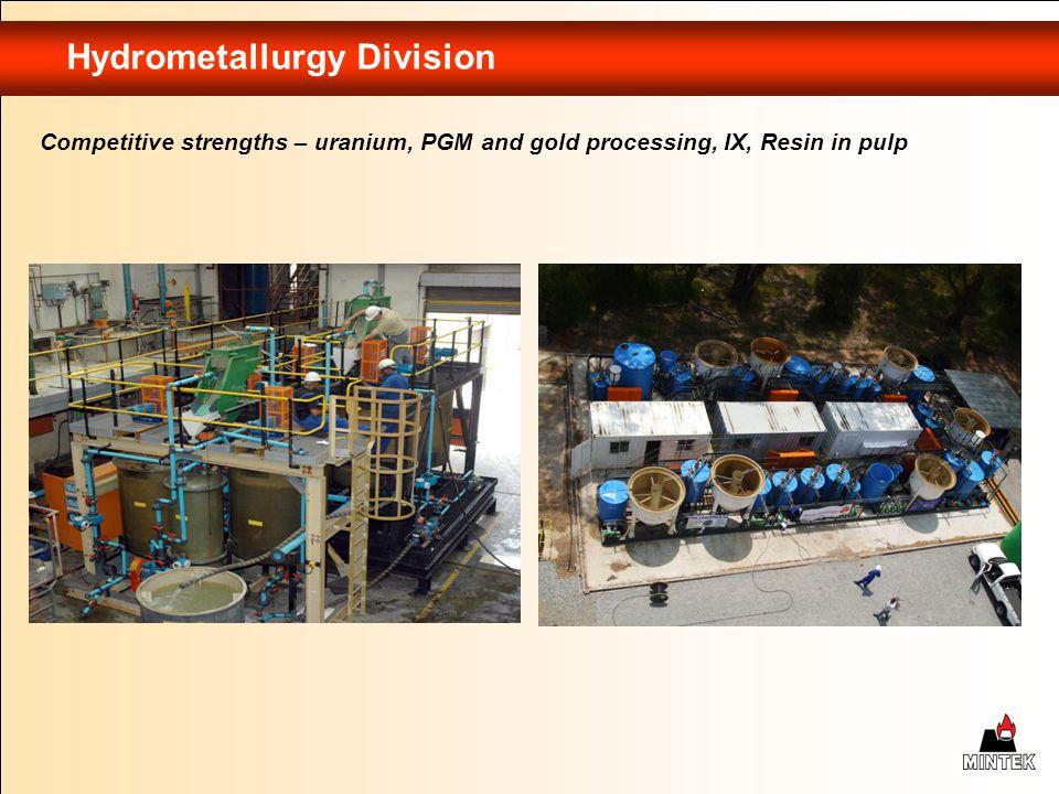 Hydrometallurgy Division