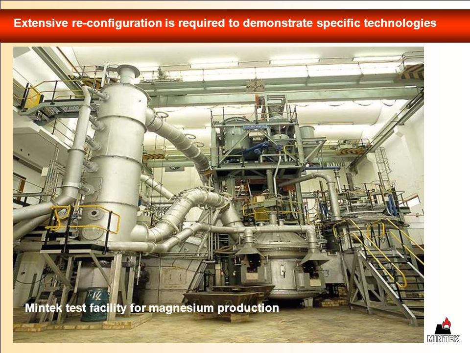 Extensive re-configuration is required to demonstrate specific technologies