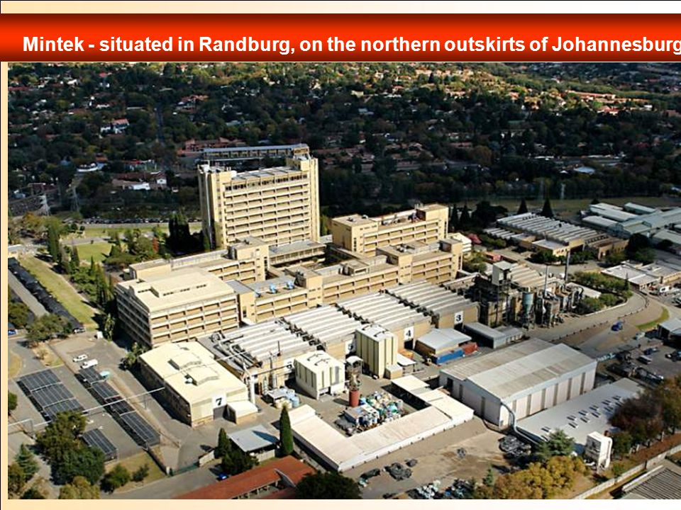 Mintek - situated in Randburg, on the northern outskirts of Johannesburg