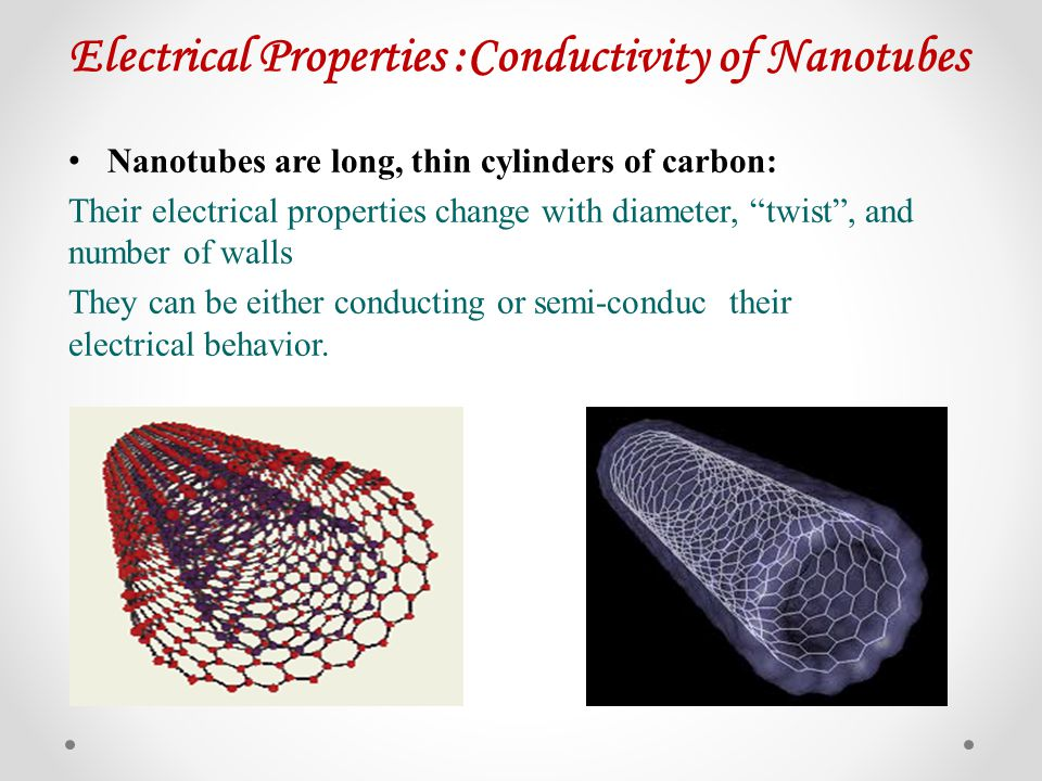 Electrical Properties :Conductivity of Nanotubes