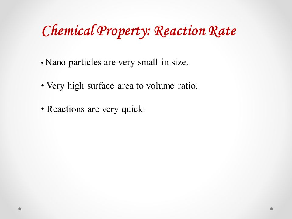 Chemical Property: Reaction Rate