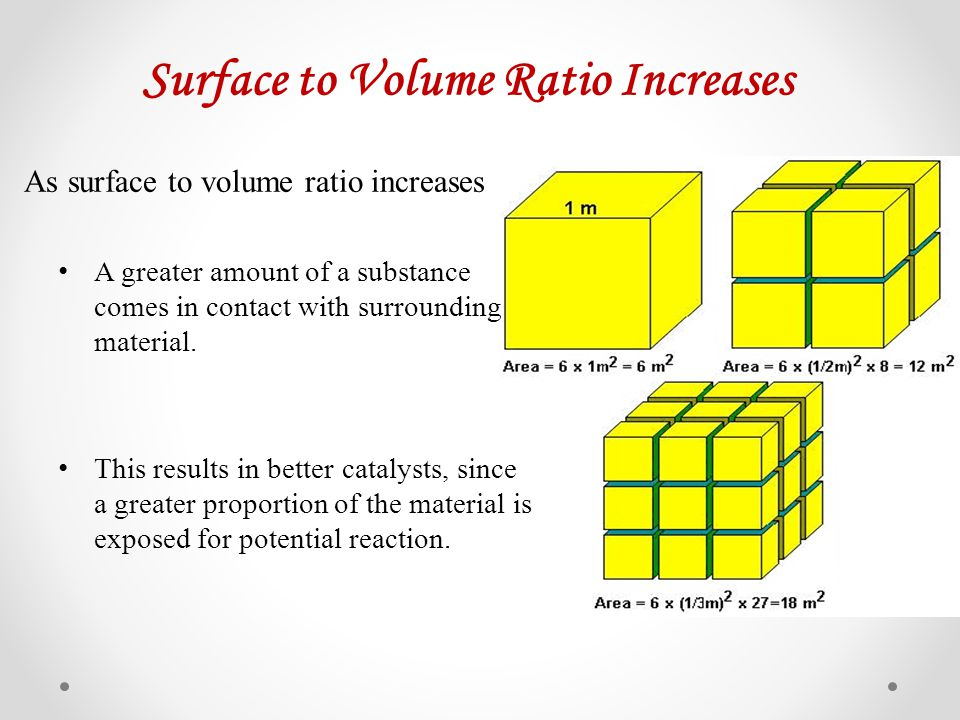 Surface to Volume Ratio Increases