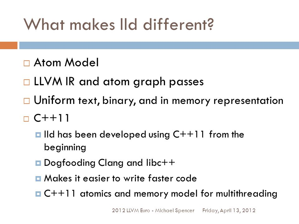 What makes lld different