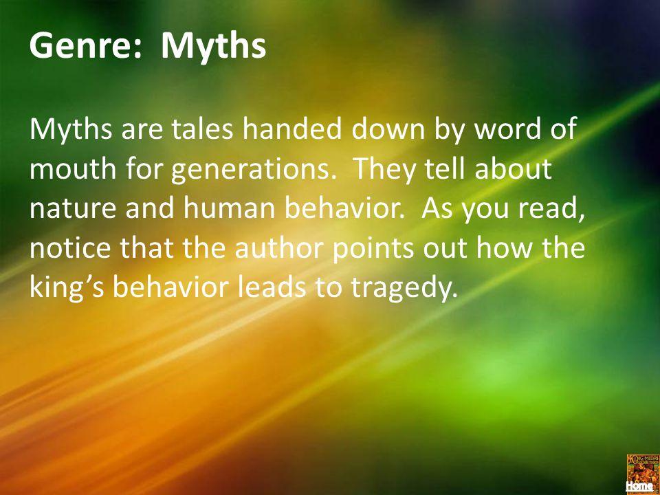 Genre: Myths