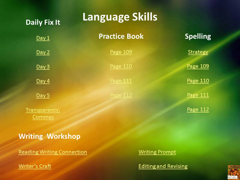 Language Skills Daily Fix It Practice Book Spelling Writing Workshop