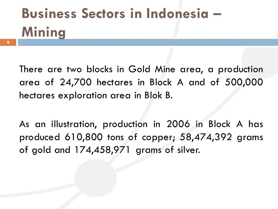 Business Sectors in Indonesia – Mining