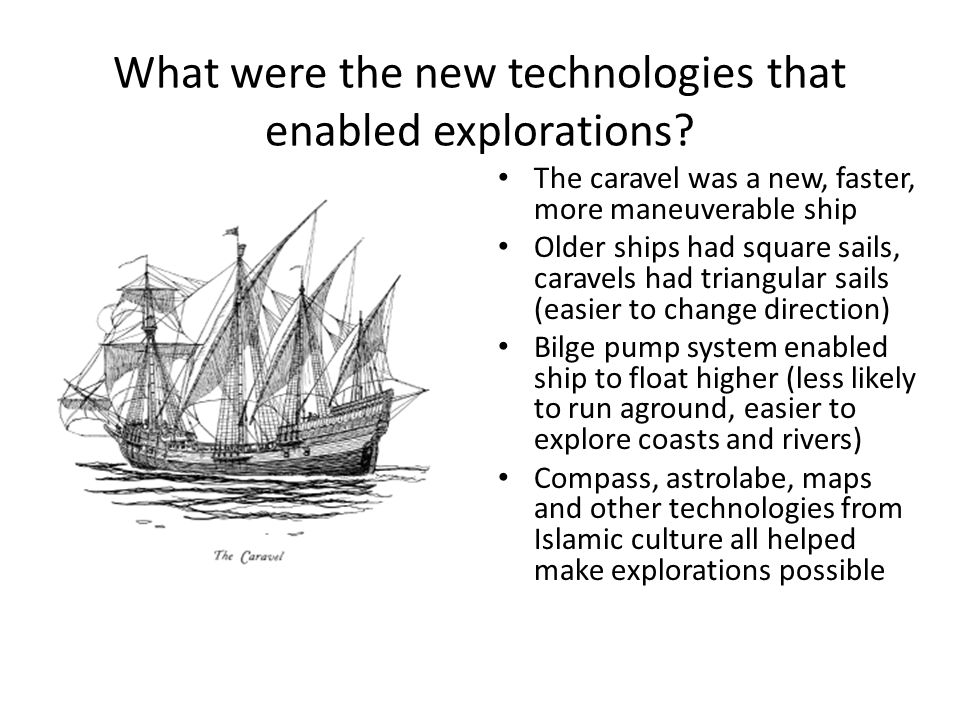 What were the new technologies that enabled explorations