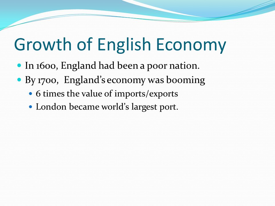 Growth of English Economy