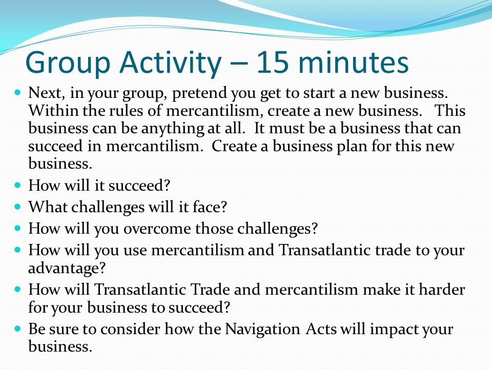 Group Activity – 15 minutes