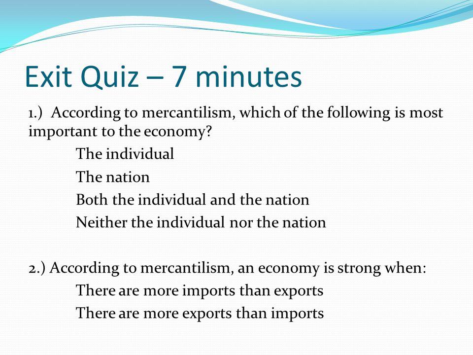 Exit Quiz – 7 minutes
