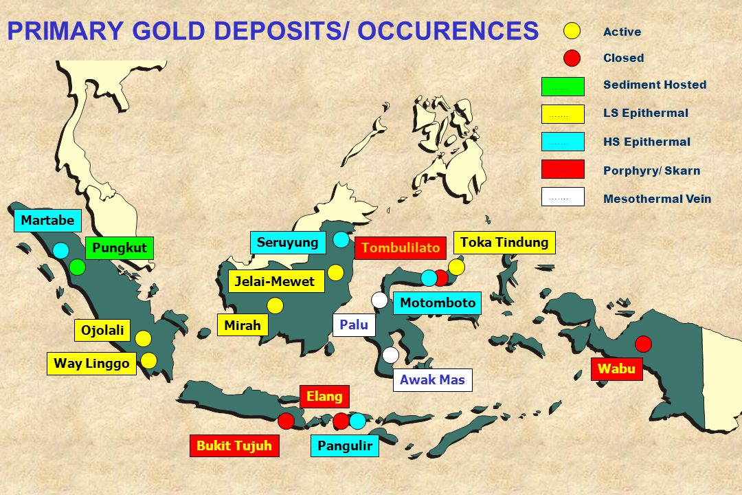 PRIMARY GOLD DEPOSITS/ OCCURENCES