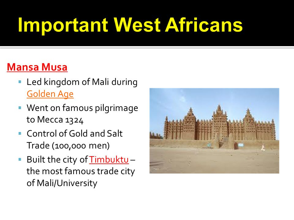 Important West Africans