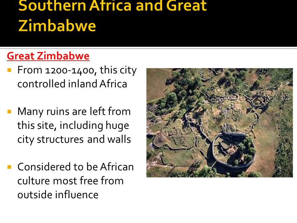 Southern Africa and Great Zimbabwe